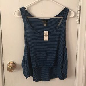 Wet Seal New Crop Drop Arm Strip Skydiver Tank XS